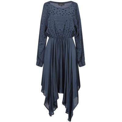 VANESSA SCOTT ミニワンピース&ドレス ダークブルー S レーヨン 100% ミニワンピース&ドレス