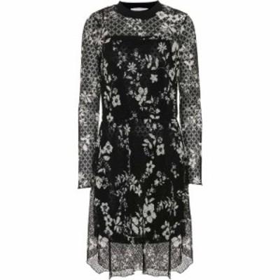クロエ See By Chloe レディース ワンピース ワンピース・ドレス Floral--printed lace dress Black/White