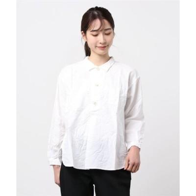 シャツ ブラウス [Brocante / ブロカント] ヴィンテージシャンブレーグランペールシャツ