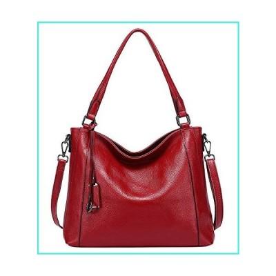 【新品】Soft Leather Handbags for Women Shoulder Hobo Bag Large Tote Crossbody Bag By OVER EARTH(O103E Red Wine)(並行輸入品)