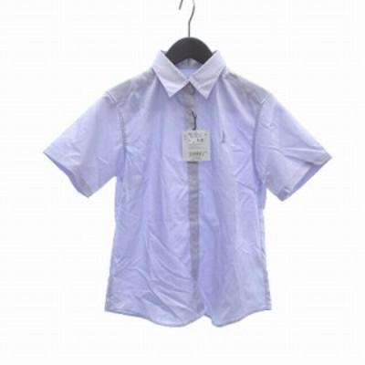 【中古】未使用品 イーストボーイ EAST BOY シャツ 半袖 9 紫 ラベンダー /CT レディース