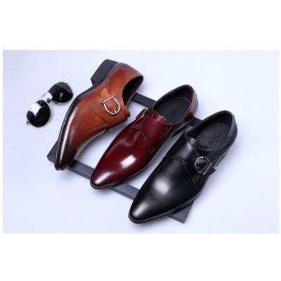 ビジネスシューズ 革靴 本革 プレーントゥ 紳士靴 内羽根