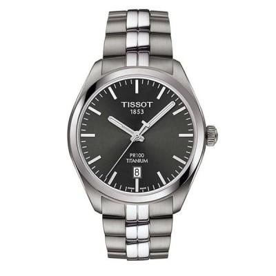 ティソット メンズ 腕時計 アクセサリー T-Classic PR 100 Analog & Date Titanium Bracelet Watch