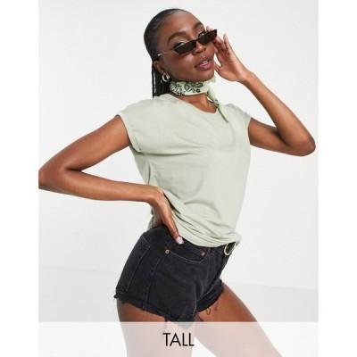 ヴェロモーダ Vero Moda Tall レディース Tシャツ トップス t-shirt in sage セージグリーン