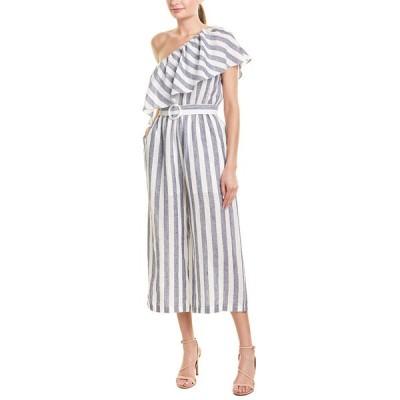 スブー ワンピース トップス レディース Suboo Newport Linen Jumpsuit navy stripe
