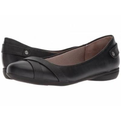 LifeStride ライフストライド レディース 女性用 シューズ 靴 フラット Adalene Black【送料無料】