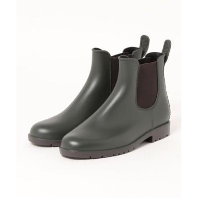 レインシューズ サイドゴア アンクル レインブーツ 雨靴