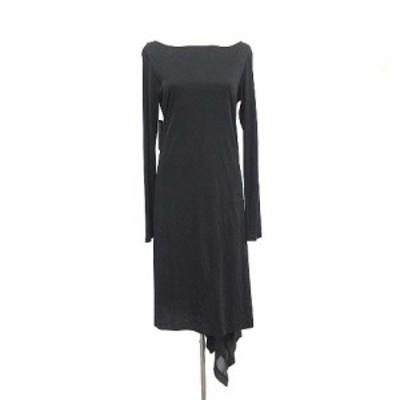 【中古】未使用品 ワイスリー Y-3 ヨウジヤマモト adidas ワンピース 変形 ロング 薄手 長袖 S 黒 ブラック /☆G