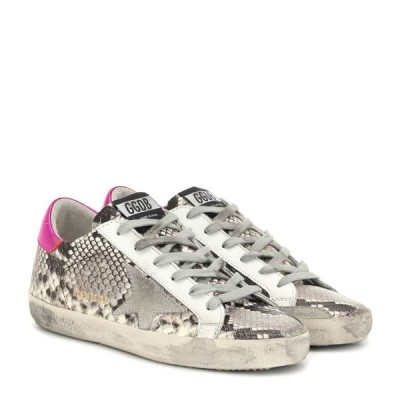 ゴールデン グース Golden Goose レディース スニーカー シューズ・靴 superstar snake-effect sneakers Natural Snake Print-Ice Star