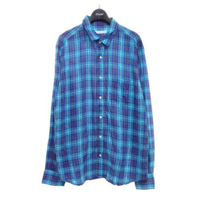 ESTNATION チェックシャツ ブルー サイズ:XL (京都店) 210321