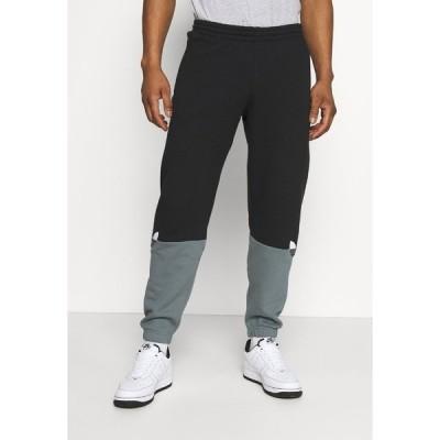 アディダスオリジナルス カジュアルパンツ メンズ ボトムス SLICE - Tracksuit bottoms - black/blue oxide
