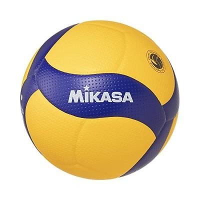 ミカサ(MIKASA) バレーボール 5号 国際公認球 検定球 一般・大学・高校 イエロー/ブルー V200W 推奨内圧0.3(kgf/?)