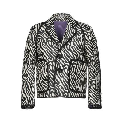 ディースクエアード DSQUARED2 テーラードジャケット ブラック 38 コットン 56% / ポリエステル 44% / 牛革 テーラードジャケ