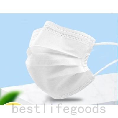 不織布マスク50枚カットフィルター採用3層構造不織布マスク使い捨てマスク白ウイルス花粉ハウスダスト風邪大掃除不織布男女兼用
