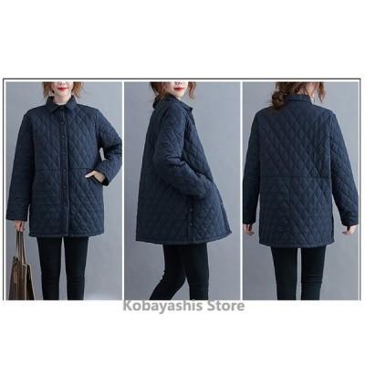 キルティングコート キルティングジャケット ジャケット キルティング 中綿コート 中綿 ゆったり レディース 軽量 冬 40代 アウター 暖かい