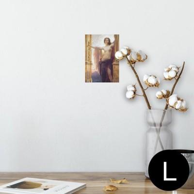ポスター ウォールステッカー シール式 89×127mm L版 写真 壁 インテリア おしゃれ wall sticker poster 人物 絵画 イラスト 003217