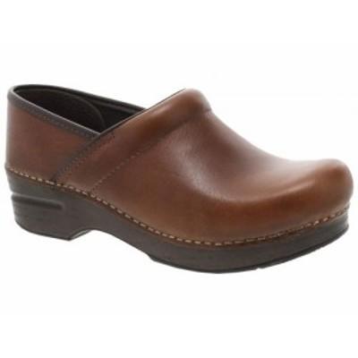 Dansko ダンスコ レディース 女性用 シューズ 靴 クロッグ ミュール Professional Tan Tumbled Pull Up【送料無料】