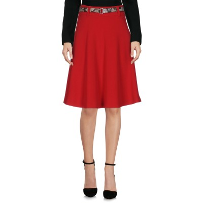 MARELLA SPORT ひざ丈スカート レッド 44 ポリエステル 77% / レーヨン 21% / ポリウレタン 2% ひざ丈スカート