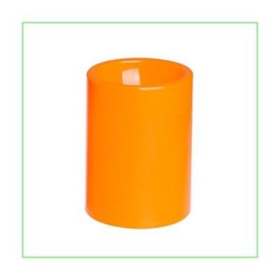 GiveU Flameless Led Timer Battery Operated Plastic Pillar Candle, 3 X 4, Orange 並行輸入品