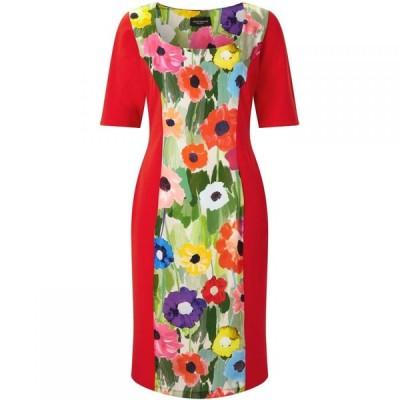 ジュームズ レイクランド James Lakeland レディース ワンピース ワンピース・ドレス Poppy Print Panel Dress Red