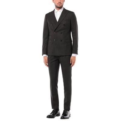 パオローニ PAOLONI スーツ ブラック 48 バージンウール 100% スーツ