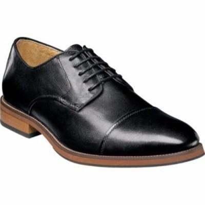 フローシャイム 革靴・ビジネスシューズ Blaze Cap Toe Derby Black Leather
