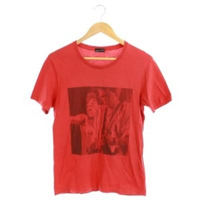 【中古】ラッドミュージシャン LAD MUSICIAN ROCK AND ROLL Tシャツ カットソー 半袖 プリント 44 赤 /MY メンズ