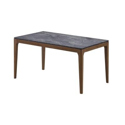 傷・水・熱に強い天然石調ダイニングテーブル<4人用>