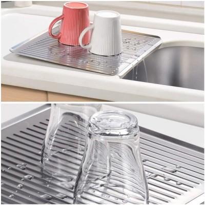 食器 水切りマット ステンレス ステンレス製 水切り トレー 水切りトレー 使い 洗い やすい 衛生的 食器洗い おしゃれ 水 流れる コンパクト 隙間 収納 日本製