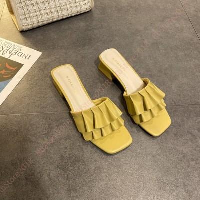 サンダル レディース オフィスサンダル 黒 仕事 ミュール 室内 女性 婦人 歩きやすい カジュアル サンダル 靴 黒 つっかけ サンダル オープントゥ かわいい