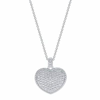 Elmas 0.01ct Round Natural Diamond Sterling Silver Diamond Heart Love Pendant Necklace for Teens Women's (EJPD182).Valentine's D