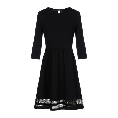 ONLY ミニワンピース&ドレス ブラック L 95% コットン 5% ポリウレタン ミニワンピース&ドレス