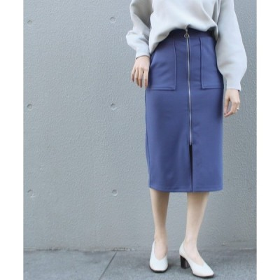 スカート [追加][洗える]ジョーゼットポンチタイトスカート【大きいサイズ/セットアップ対応】