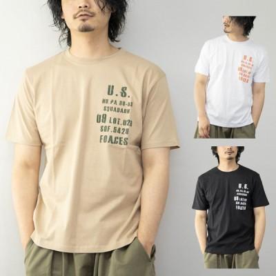 Tシャツ カットソー ロゴ アメカジ コットン 綿100% 丸首 クルーネック 半袖 夏 おしゃれ ユニセックス トップス メンズ