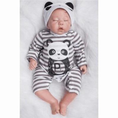 ベビードール 赤ちゃん人形 リアルな新生児 人形 熟睡中の男の子 ベビー人形 リボーンドール 抱き人形 綿&シリコン 50cm