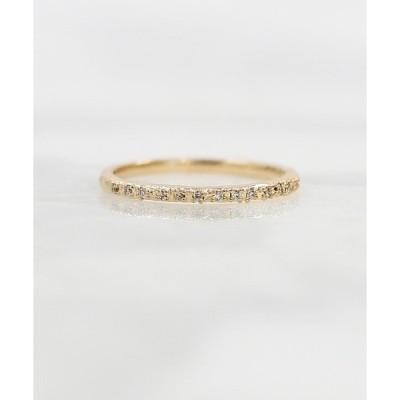 指輪 a Cote◆K10 ダイヤモンド ハーフエタニティ ゴールド マットリング