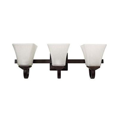 [新品]Design House 587782 Torino Traditional Indoor Dimmable Up/Down Wall Light with Snow Glass, 3, Brushed Bronze