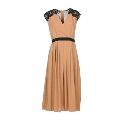 ツインセット シモーナ バルビエリ TWINSET 7分丈ワンピース・ドレス キャメル 48 ポリエステル 100% / ナイロン 7分丈ワンピース
