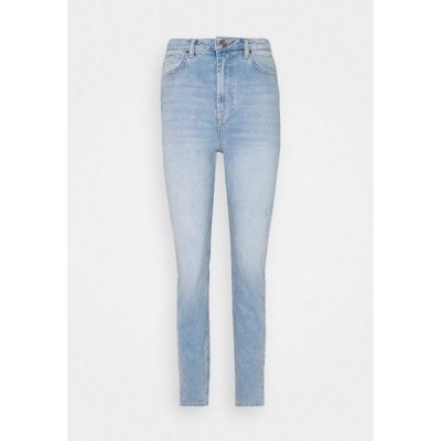 ピーシーズ トール デニムパンツ レディース ボトムス PCLEAH MOM - Slim fit jeans - light blue denim