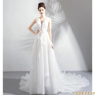 ウエディングドレス パーティードレス カラードレス 肩出し オフショルダー ベルト ロング丈  結婚式 二次会 花嫁ドレス ロングドレス パーティー 編み上げ