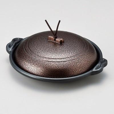 (業務用・陶板)庵陶板いぶし銅φ18浅[58201-418](入数:5)