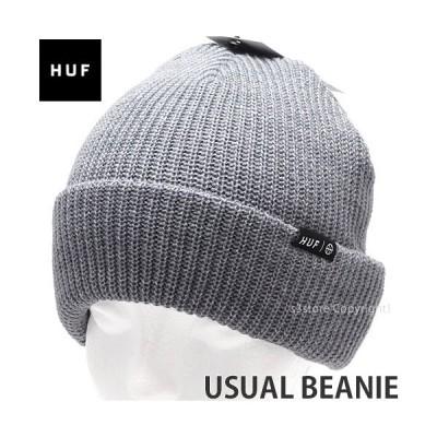 ハフ ユージュアル ビーニー HUF USUAL BEANIE ニットキャップ 帽子 ユニセックス メンズ レディース カラー:GREY HEATHER サイズ:OS