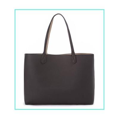 【新品】Overbrooke Reversible Tote Bag, Black & Sand - Premium Vegan Leather Womens Shoulder Tote(並行輸入品)