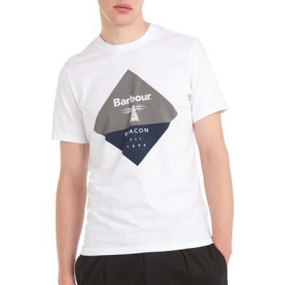バブアー Barbour Beacon メンズ Tシャツ トップス Diamond Short Sleeve T-Shirt White