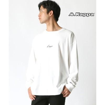 【ラザル】【Lazar】Kappa/カッパ 【別注】 ビッグシルエット 刺繍ロゴ 袖テープ ロングスリーブTシャツ