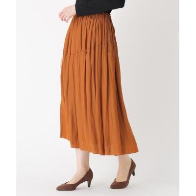 SUTSESO(スチェッソ) 【LIZA(リザ)】アシンメトリープリーツ風ロングスカート
