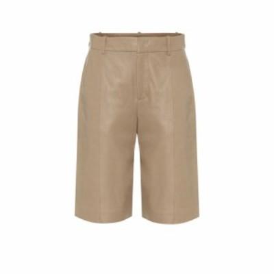 ヴィンス Vince レディース ショートパンツ ボトムス・パンツ High-rise leather shorts Khaki