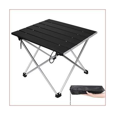 MAORUI ポータブルキャンプテーブル アルミ折りたたみテーブル 超軽量キャンプテーブル アウトドア、ピ