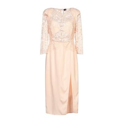 ELISABETTA FRANCHI 7分丈ワンピース・ドレス ライトピンク 40 レーヨン 96% / ポリウレタン 4% 7分丈ワンピース・ドレス