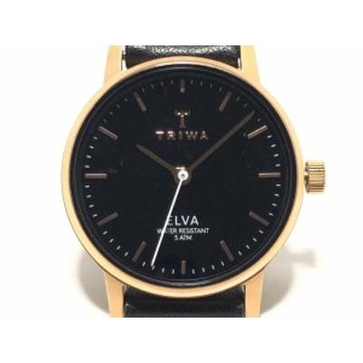 トリワ TRIWA 腕時計 - TM7662 レディース 黒【中古】20200512